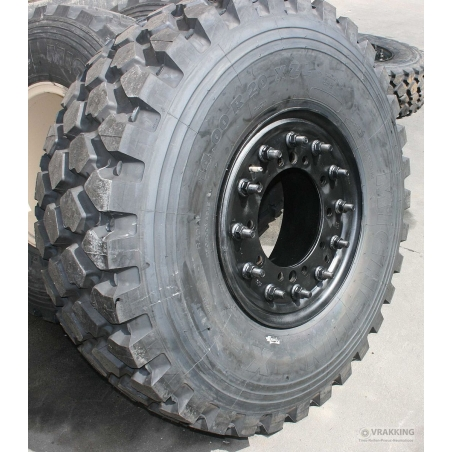 14.00R20 Michelin XZL with steel wheel and Hutchinson run-flat