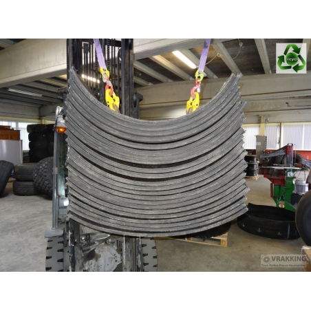 Solid rubber tire fender