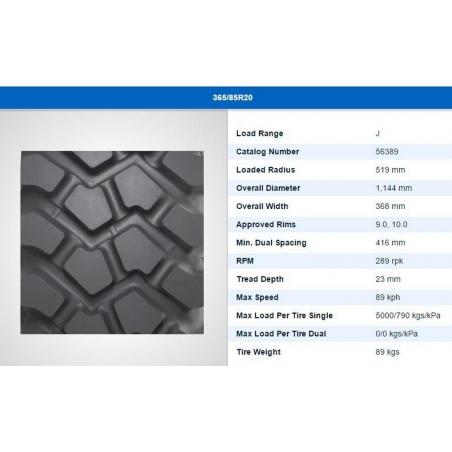 365/85R20 Michelin XZL new