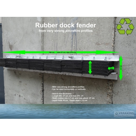 Massive Rubber Dock fender for ports