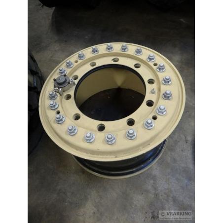 11x20 Hutchinson 10 hole aluminium wheel tubeless