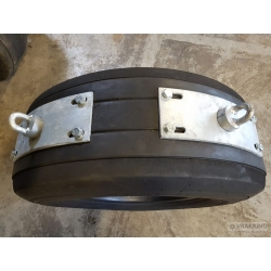 Fender eye plate galvanized