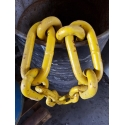 Chain fender 13x80mm Yellow painted