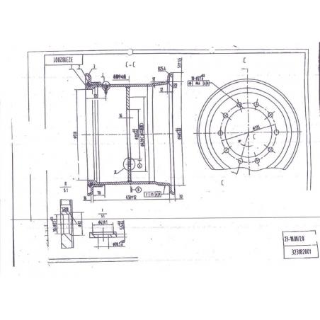 18.00x20.5 10 holes wheel heavy load