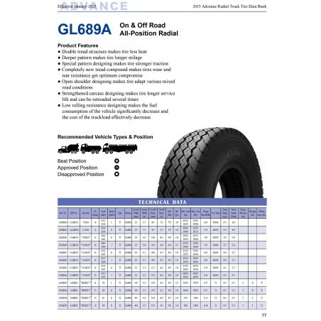 445/65R22.5 Advance GL689A tire
