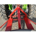 Tractor suspension for snow/mud plough
