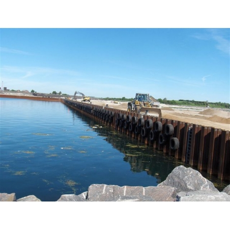 Dock or quay fenders from aircraft tires Port Grenaa Denmark