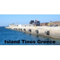 Dock or quay fenders from aircraft tires Tinos Greece