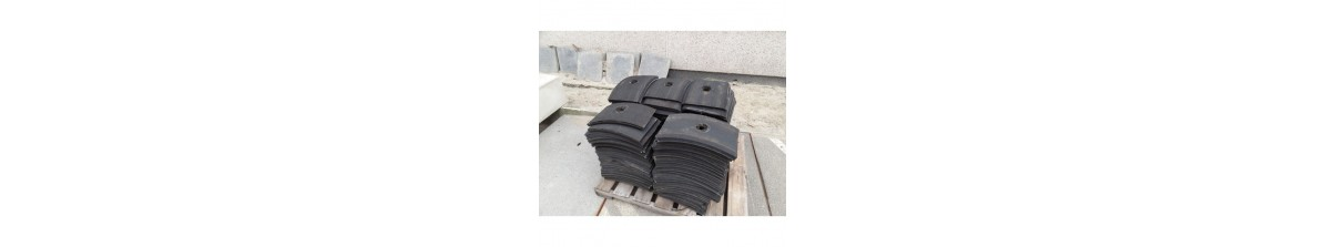 Several products from tire rubber